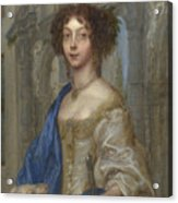 Portrait Of A Woman As Saint Agnes Acrylic Print