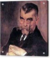 Portrait Of Aa Stahovich 1911 Valentin Serov Acrylic Print