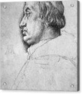 Portrait Of Cardinal Albrecht Of Brandenburg  Acrylic Print