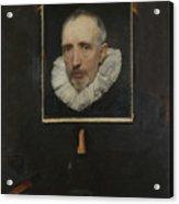 Portrait Of Cornelis Van Der Geest Acrylic Print