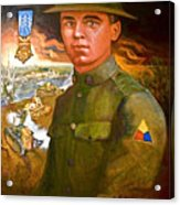 Portrait Of Corporal Roberts Acrylic Print by Dean Gleisberg