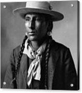 Portrait Of Cree Indian Warrior  Acrylic Print