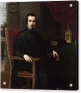 Portrait Of Don Justino De Neve Acrylic Print