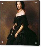 Portrait Of Princess Bariatinskaya Franz Xavier Winterhalter Acrylic Print