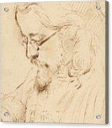 Portrait Of Samuel Palmer Head And Shoulders Acrylic Print