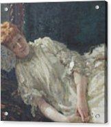 Portrait Of The Pianist Louisa Mercy D'argenteau Acrylic Print