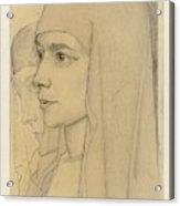 Portrait Of Treesje Westermann, Mother Teresa Huf Of Bethany, Jan Toorop, 1927 Acrylic Print