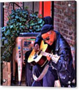 Post Alley Musician Acrylic Print