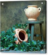 Pottery With Ivy I Acrylic Print