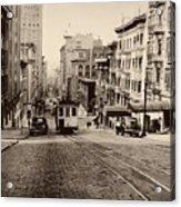 Powell Street Hill - San Francisco 1945 Acrylic Print