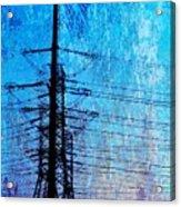 Power In Blue Acrylic Print