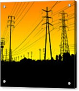 Power Lines Acrylic Print