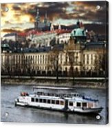 Prague By The Water Acrylic Print