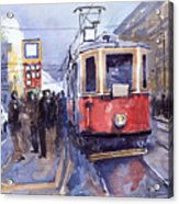 Prague Old Tram 03 Acrylic Print