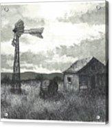 Prairie Farm Acrylic Print by Jonathan Baldock