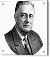 President Franklin Roosevelt Graphic  Acrylic Print