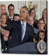 President Obama Honors Us Womens Soccer Team At White House #2 Acrylic Print