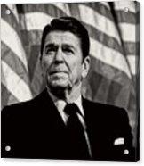 President Ronald Reagan Speaking - 1982 Acrylic Print