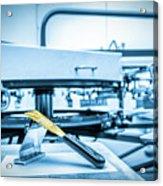 Print Screening Metal Machine. Acrylic Print