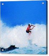 Pro Surfer Alex Ribeiro Acrylic Print