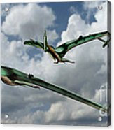 Pterodactyls In Flight Acrylic Print