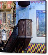 Pulpit - San Xavier Mission - Tucson Arizona Acrylic Print