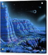 Pulsar Planets II Acrylic Print by Lynette Cook