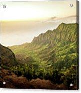 Puu O Kila Lookout, Kauai, Hi Acrylic Print