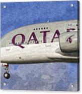 Qatar Airlines Airbus A380 Art Acrylic Print