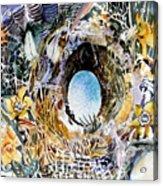 Rabbit Hole Or Robin Egg Acrylic Print