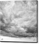 Rain Clouds And Weather Front Move Over Ring Road Hringvegur Across The Skeidararsandur Sand Acrylic Print