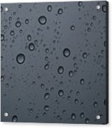 Rain On A Window Acrylic Print