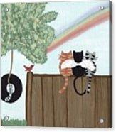 Rainbow Bridge Cats Acrylic Print