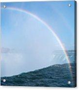 Rainbow Over Niagara Falls Horseshoe Waterfall Acrylic Print
