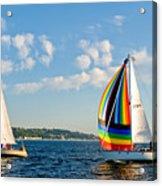 Rainbow Sails Acrylic Print
