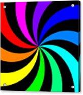 Rainbow Spectral Swirl Acrylic Print