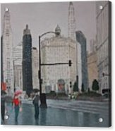 Rainy Day Chicago Acrylic Print