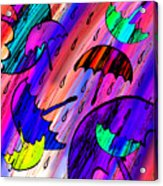 Rainy Day Love Acrylic Print