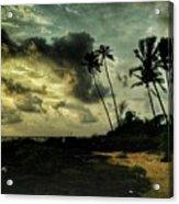 Rainy Seashore Acrylic Print