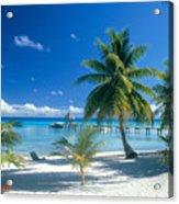 Rangiroa Atoll, Kia Ora Acrylic Print