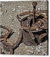 Real Horseshoe Game Acrylic Print