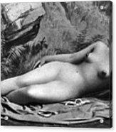 Reclining Nude, C1885 Acrylic Print