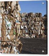 Recycling Facility Acrylic Print by Paul Edmondson