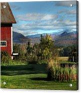 Red Barn In Newbury Vermont Acrylic Print