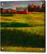 Rolling Hills And Red Barn, Rock Island, Tennessee Acrylic Print