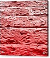 Red Brick Wall Acrylic Print