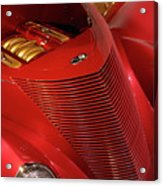 Red Classic Car Details Acrylic Print