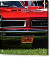 red GTO Acrylic Print