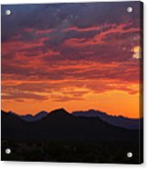 Red Hot Desert Skies  Acrylic Print