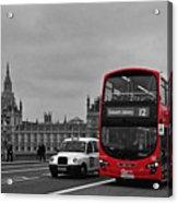 Red London Bus Acrylic Print